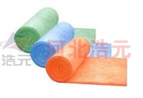Colored glass wool