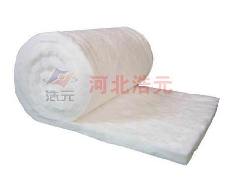 Formaldehyde free glass wool felt