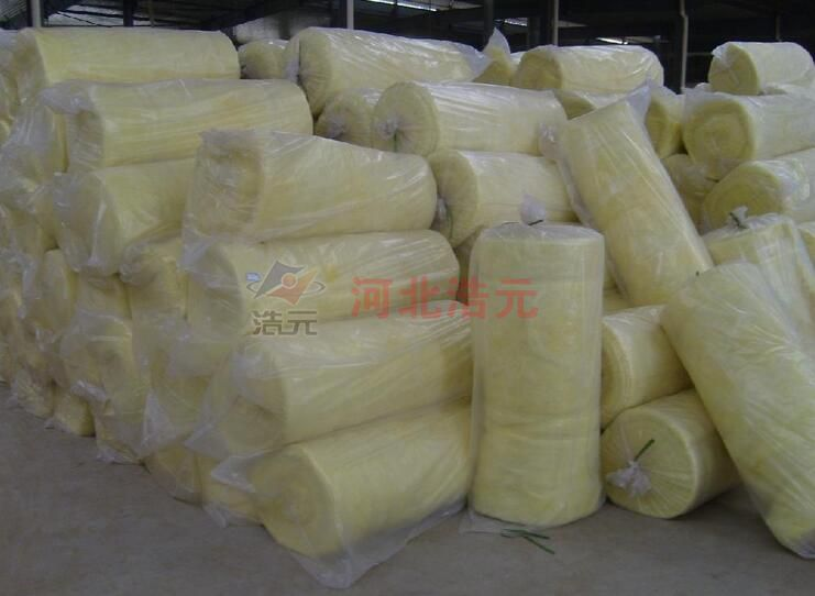 High temperature use of glass wool